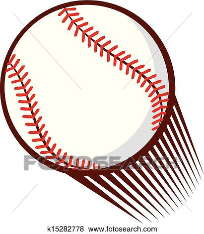 clip art of baseball ball k15282778 search clipart illustration rh fotosearch com baseball ball clipart baseball ball clipart vector