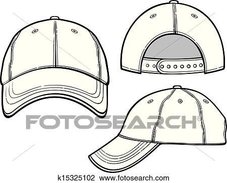 157b8320450 Baseball cap Clipart k15325102