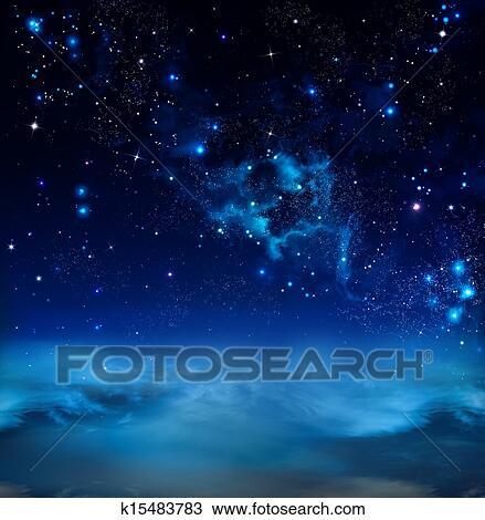 Disegno Bello Cielo Stellato K15483783 Cerca Clipart