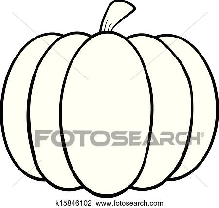 Black And White Pumpkin Cartoon Ilration