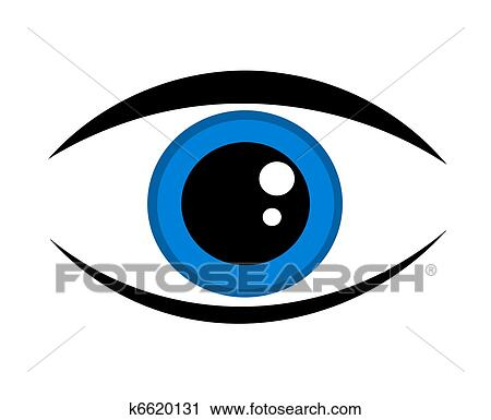 Clipart Of Blue Eye Icon K6620131 Search Clip Art Illustration