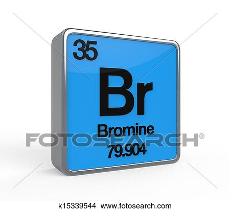 Drawings Of Bromine Element Periodic Table K15339544 Search Clip