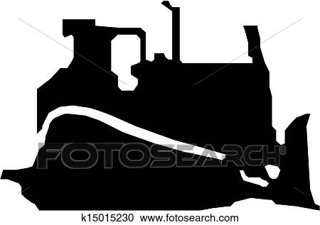 clipart of bulldozer vector black silhouette k15015230 search clip rh fotosearch com caterpillar dozer clipart caterpillar dozer clipart