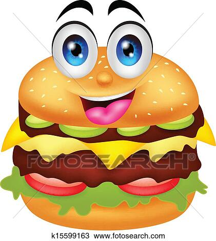 clipart of burger cartoon characters k15599163 search clip art rh fotosearch com burger clipart burger clipart png