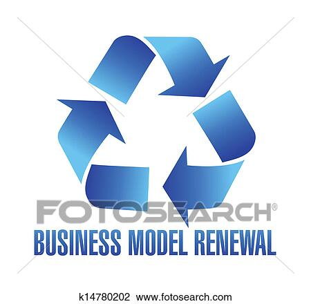 Clipart Of Business Model Renewal Illustration K14780202 Search