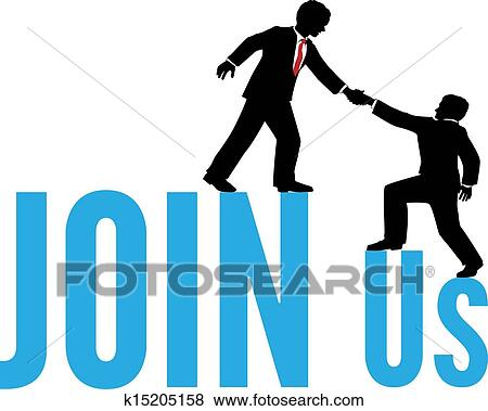 clip art of business people help join up team k15205158 search rh fotosearch com