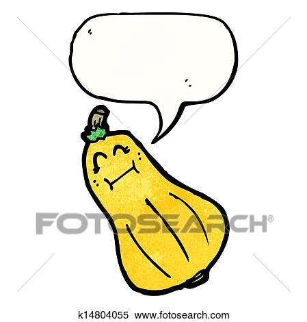 Clipart butternut courge dessin anim caract re k14804055 recherchez des clip arts des - Dessin courge ...
