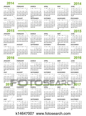 Calendario Anno 2015.Calendario Anno Nuovo 2014 2015 20 Clip Art