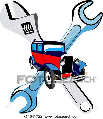 clipart of car repair service k14641722 search clip art rh fotosearch com car repair clip art free car repair shop clipart