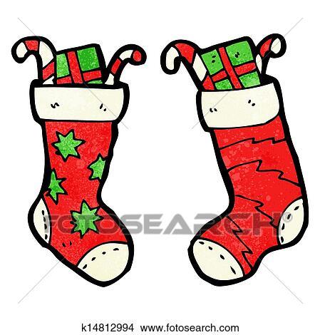 Christmas Stockings Cartoon.Cartoon Christmas Stockings Clipart