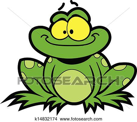 clipart of cartoon frog k14832174 search clip art illustration