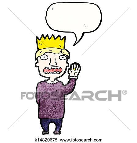 clipart of cartoon prince swearing royal k14820675 search clip art rh fotosearch com royal family clipart royal family clipart