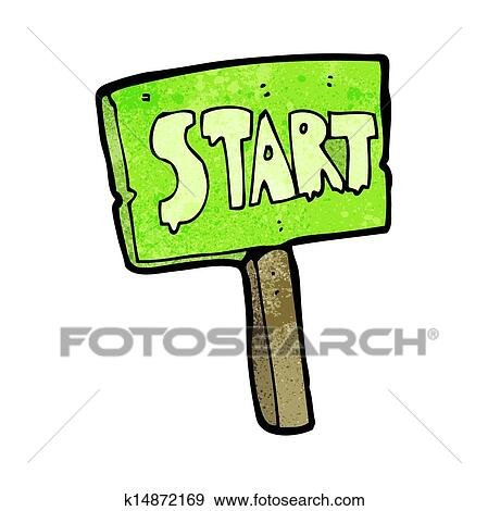 clip art of cartoon race start sign k14872169 search clipart rh fotosearch com star clip art images stars clipart free