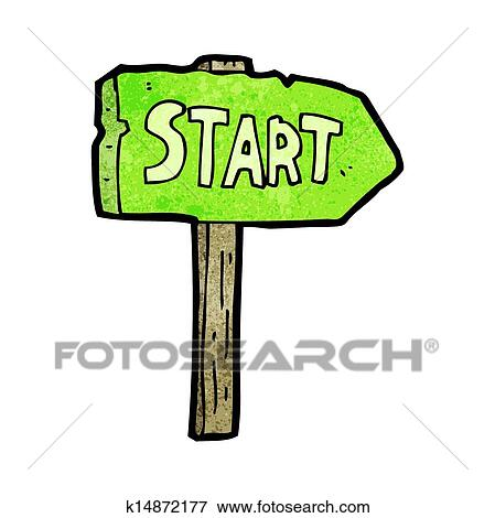 clip art of cartoon race start sign k14872177 search clipart rh fotosearch com stars clipart free stars clipart free