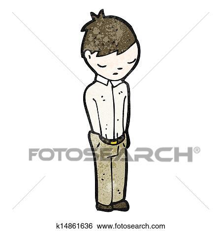 Clip Art Of Cartoon Sad Boy K14861636 Search Clipart Illustration