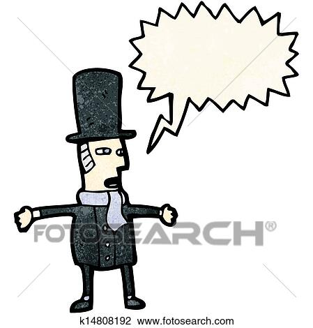 clipart of cartoon victorian gentleman k14808192 search clip art rh fotosearch com english gentleman clipart gentleman hat clipart
