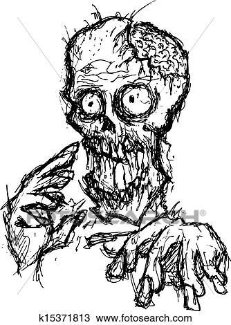 Cartoon Zombie Clipart K15371813 Fotosearch