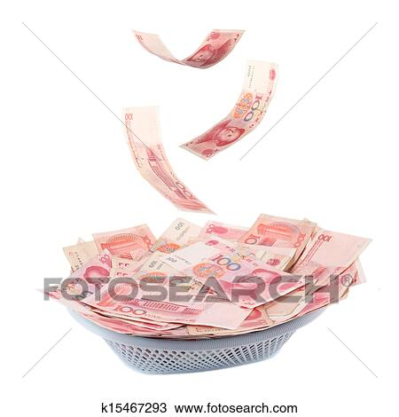 Stock Photo Of Chinese Money Is Raining Down K15467293 Search
