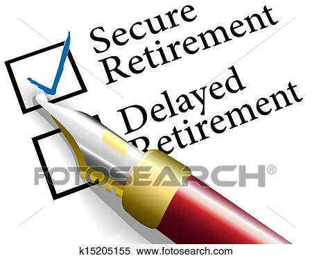 clipart of choose secure retirement investment k15205155 search rh fotosearch com clip art retirement borders clip art retirement party