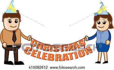 Clipart Of Christmas Celebration K15082612 Search Clip Art