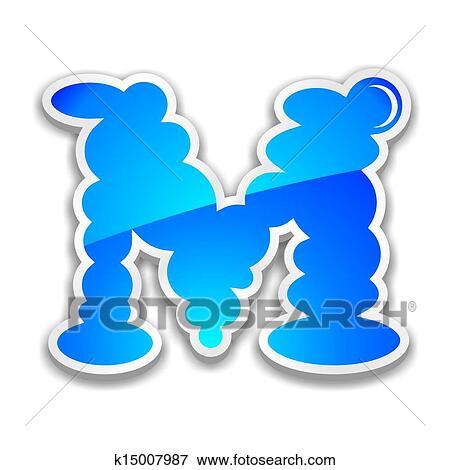 Stock Illustration Of Cloud Alphabet Letter M K15007987 Search Eps