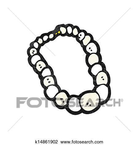 collier perle clipart