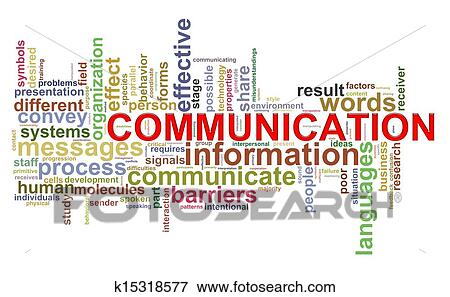stock illustration of communication word tags k15318577 search eps