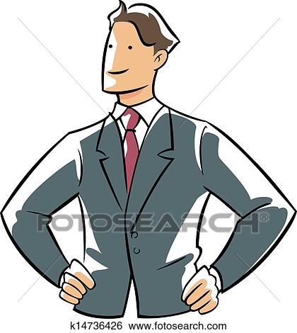 clip art of confidence executive hands on hip k14736426 search rh fotosearch com executive functioning clipart executive director clipart