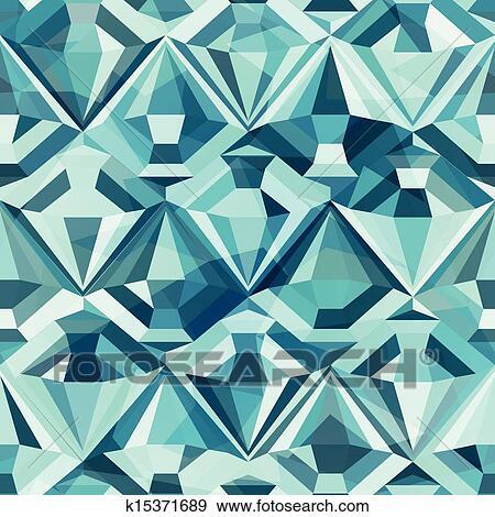 Clipart - couleur froide, diamant, seamless, modèle k15371689 ...