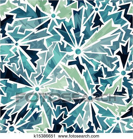 Clipart - couleur froide, fissures, seamless, modèle k15386651 ...
