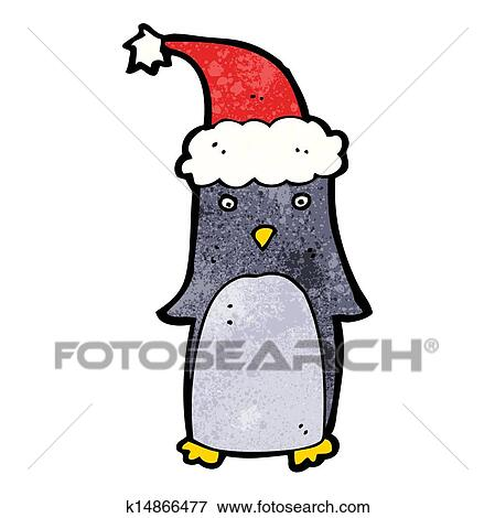 Cute Christmas Clip Art.Cute Christmas Penguin Clip Art