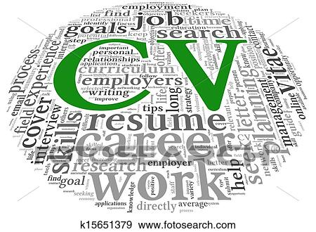 Stock Illustration Of Cv Curriculum Vitae Concept In Word Tag Cloud