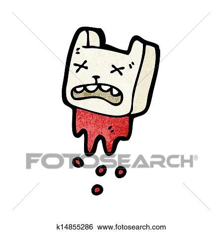 Clip Art Of Dead Rabbit Head Symbol K14855286 Search Clipart