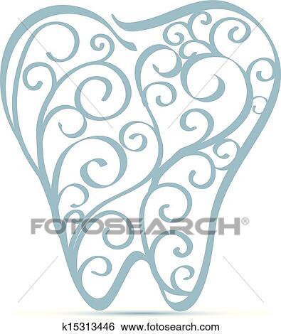 Dente Ornamental Desenho Clipart K15313446 Fotosearch