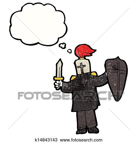 Clipart Dessin Anime Chevalier Noir K14843143 Recherchez Des