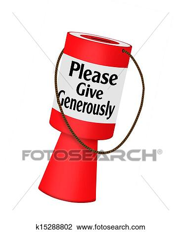 clip art of donations charity fundraising collecting box k15288802 rh fotosearch com fundraising goal clipart fundraising goal clipart