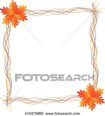 clipart ernte rahmen mit bl tter k15475860 suche clip art illustration wandbilder. Black Bedroom Furniture Sets. Home Design Ideas