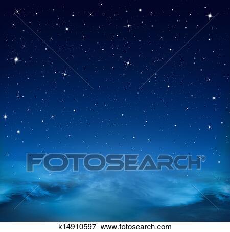 Estratto Sfondo Blu Cielo Stellato Archivio Fotografico