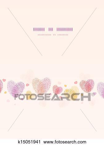Clipart Fingerabdruck Herz Senkrecht Romantische Hintergrund