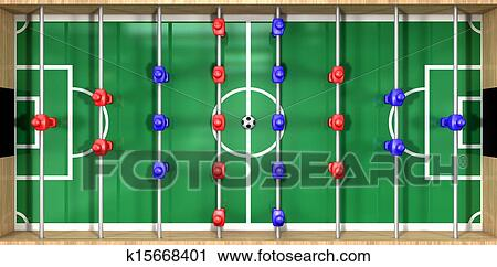Foosball Table Top View Stock Image K15668401 Fotosearch