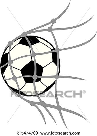 clip art of football ball k15474709 search clipart illustration rh fotosearch com soccer goal post clipart soccer goal clipart