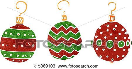 Clipart Fruher Karikatur Weihnachtsdeko K15069103 Suche Clip