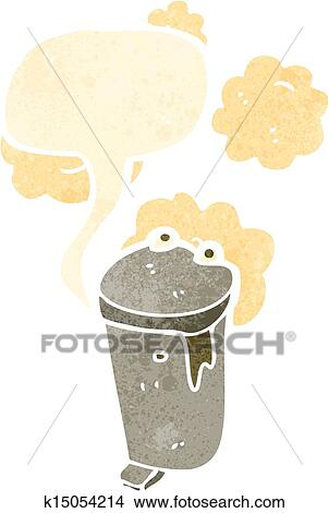 Garbage Can Retro Cartoon Clipart K15054214 Fotosearch