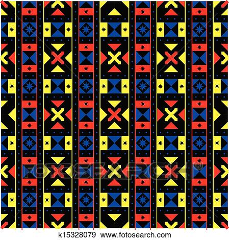 Geometric African Pattern Clip Art