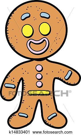 Clipart Of Gingerbread Man K14833401