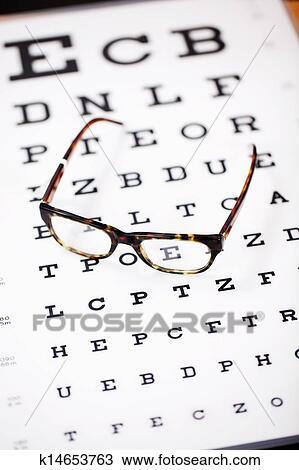 Modern Eye Chart Framed Print Picture Poster Snellen Optician Glasses Test