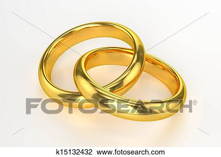 Silber Hochzeit Ringe Isoliert Auf Weissem Hintergrund Lizenzfreie