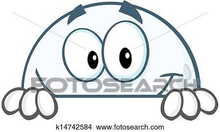 Golf- kugel, verstecken, a, zeichen Clipart   k14742584 ...