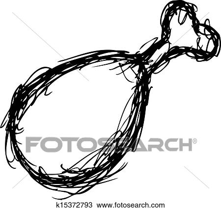 clipart of grunge chicken leg k15372793 search clip art rh fotosearch com grunge heart clipart grunge heart clipart