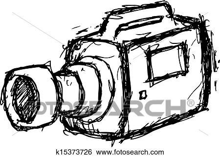 Grunge Camera Vector : Clip art of grunge video camera k15373726 search clipart